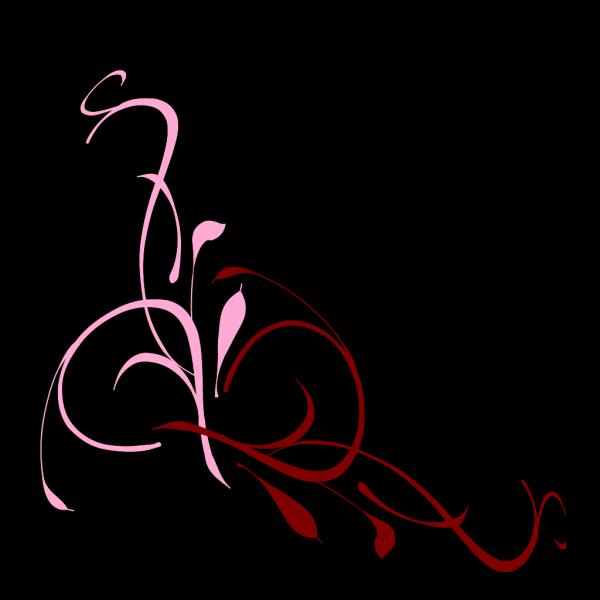 Floral Swirl Bubblegum Pink PNG Clip art