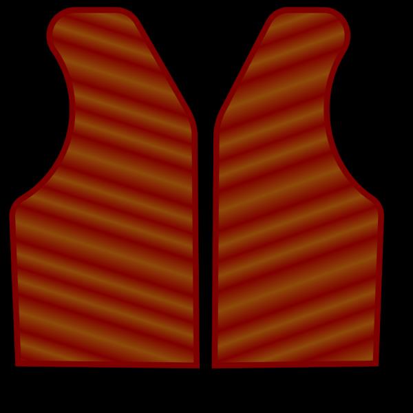 Maroon Brown Vest PNG Clip art