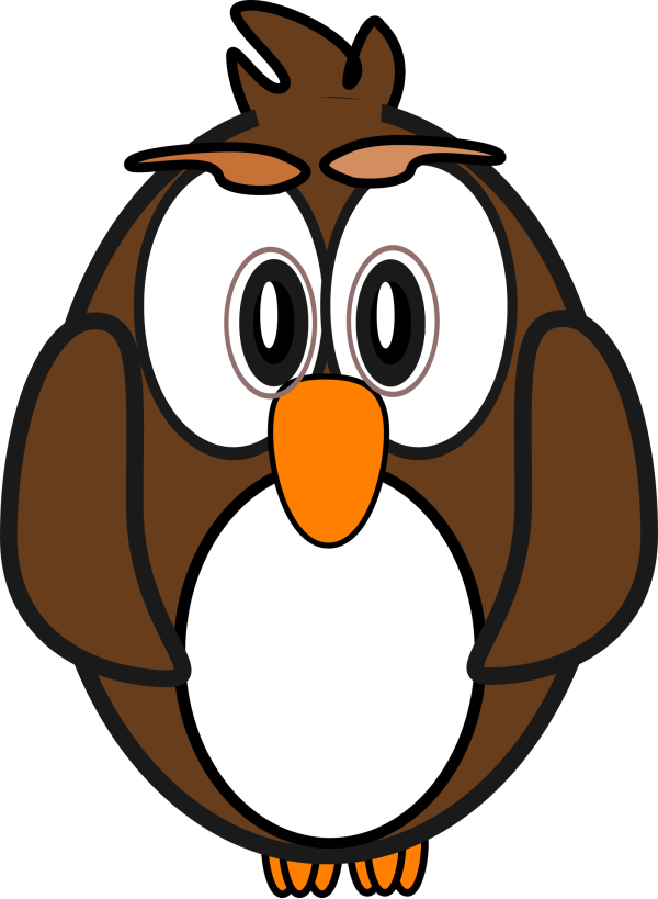Turquoise Brown Owl PNG Clip art