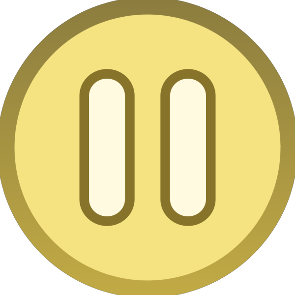 Gold Brown Plain Pause Button Icon PNG Clip art