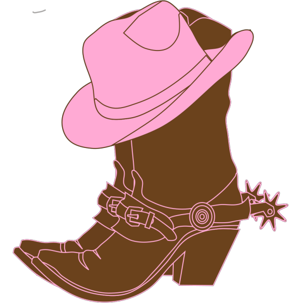 Lighter Brown Cowgirl Boots PNG Clip art