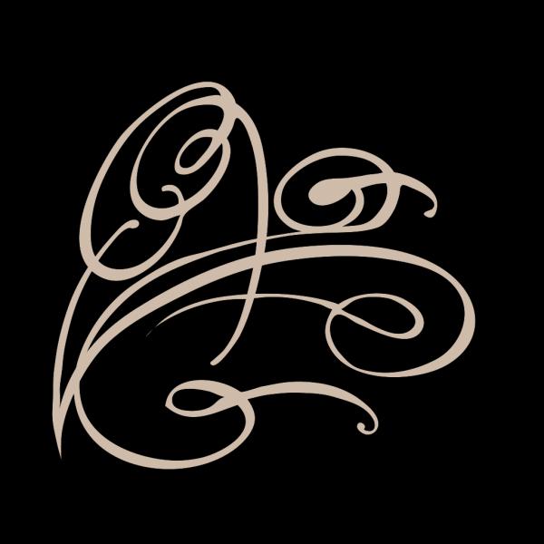 Decorative Swirl- Chartreuse PNG Clip art