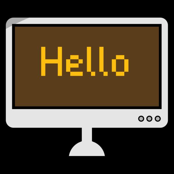 Hello Computer Screen PNG Clip art