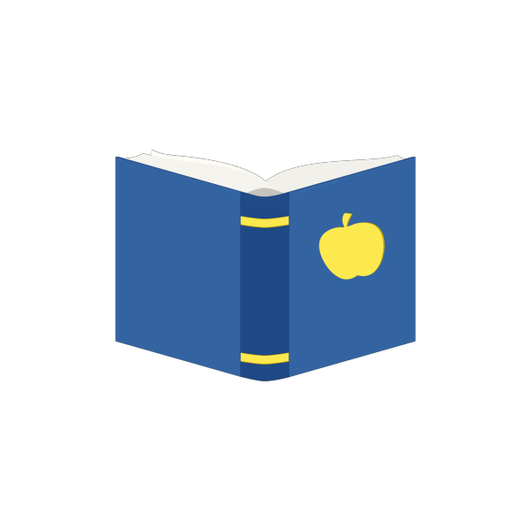 Desk Front View With Book PNG Clip art