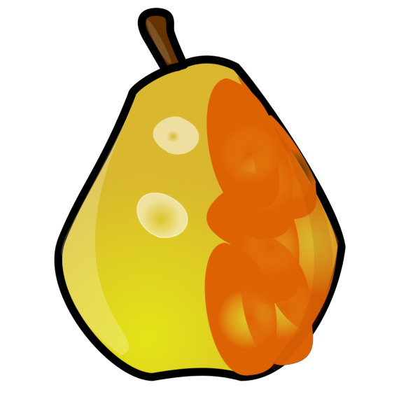 Brown Shaded Pear PNG images