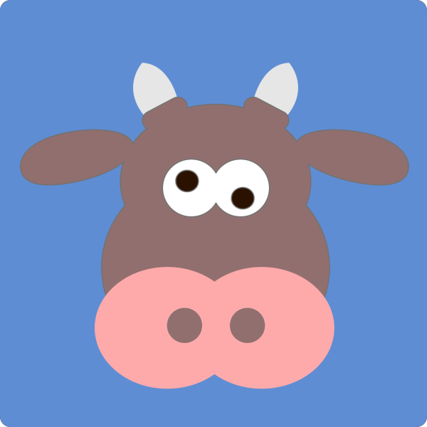 Brown  Cow PNG Clip art
