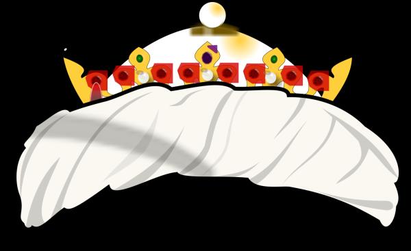Brown Blue Crown PNG Clip art