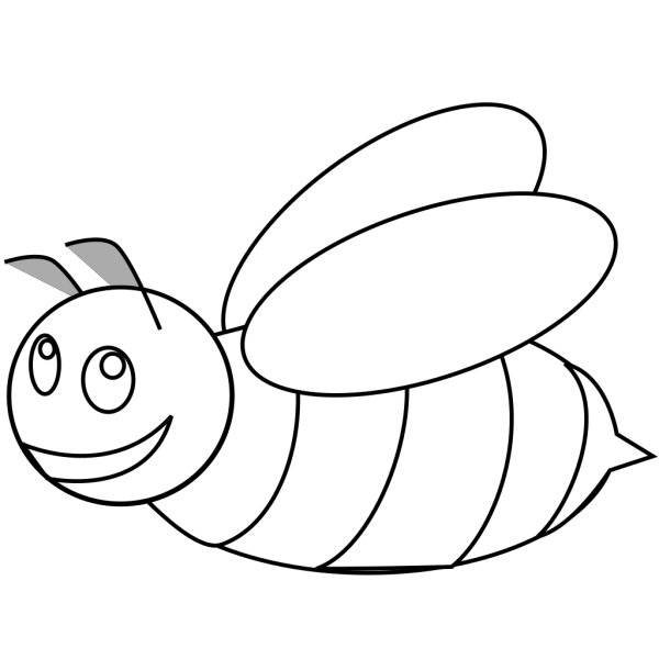 Bumble Bee Outline PNG Clip art