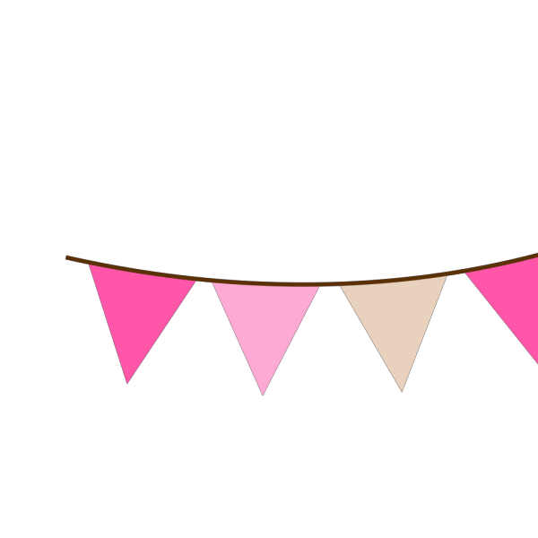 Angled Pink Brown Bunting PNG Clip art