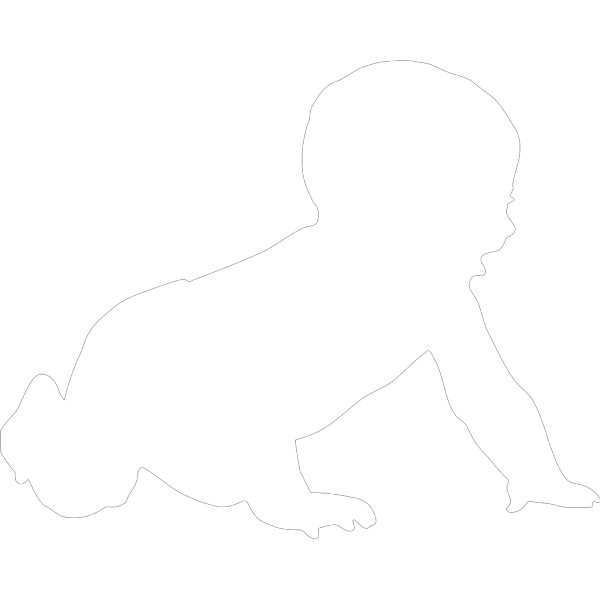 Baby Silhouette PNG Clip art