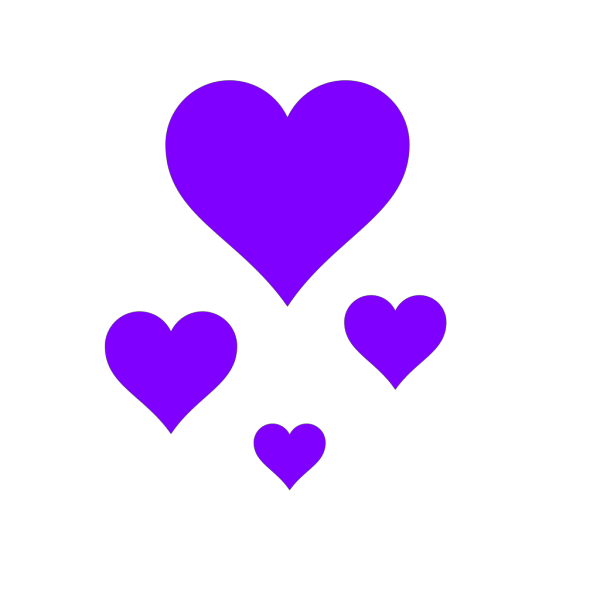 Brown And Blue Hearts PNG Clip art