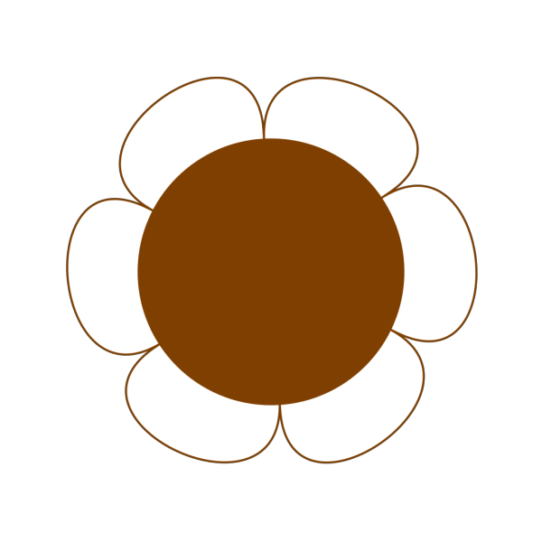 Brown Flower Big PNG Clip art