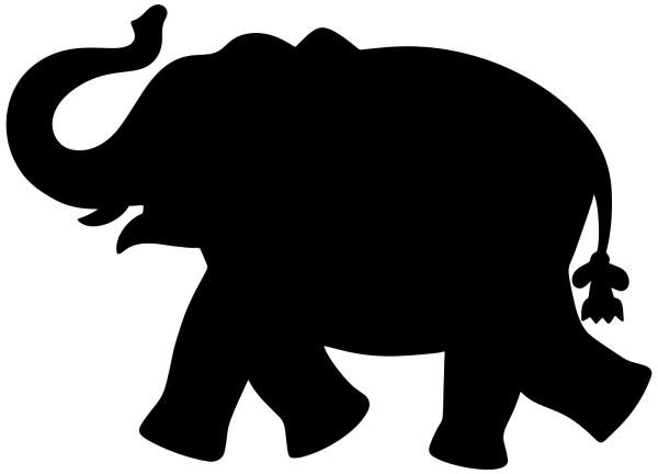 Brown Elephant Silouette PNG Clip art