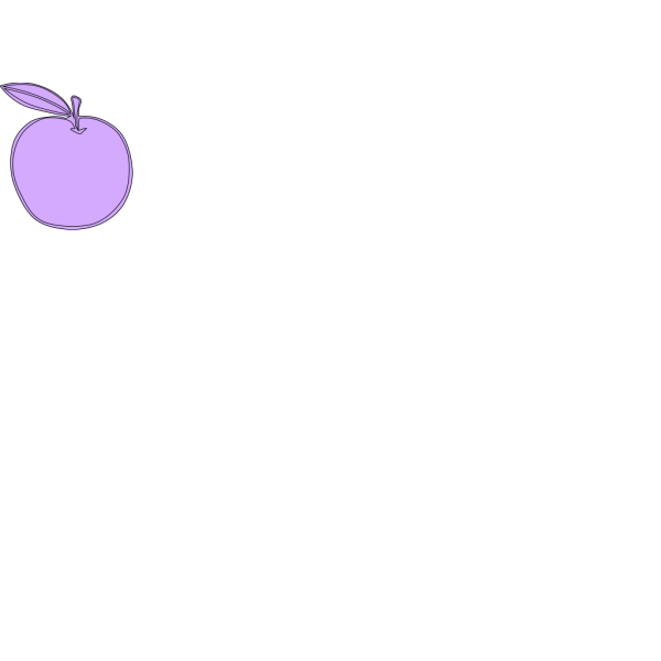 Apple Line Art PNG images