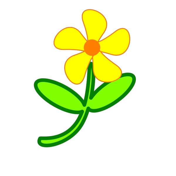 Brown Fun Styled Flower PNG Clip art