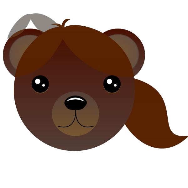 Brown Female Bear PNG Clip art