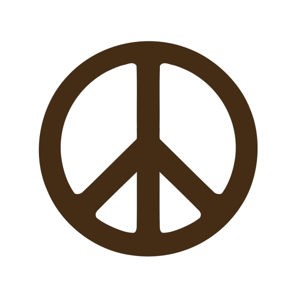 Brown Peace PNG Clip art