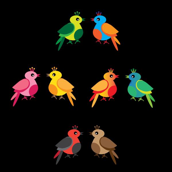 Kj Love Birds PNG Clip art