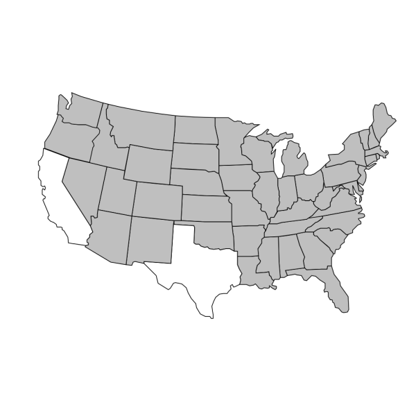Outline Of United States Map Brown PNG Clip art