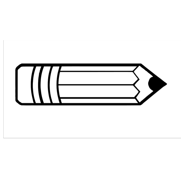 Pencil Outlined PNG images