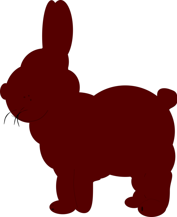 Bunny Polka Dot Silhouette PNG Clip art