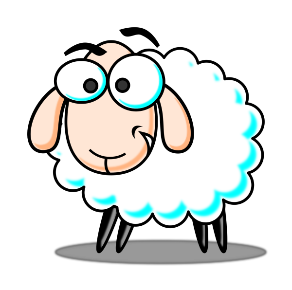 Sheep Brown Orange Two Toned Looking Straight PNG Clip art