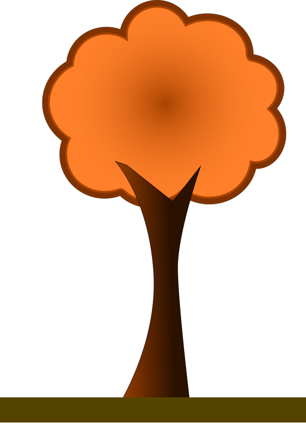 Large 4 Layer Orange Fir Tree PNG Clip art