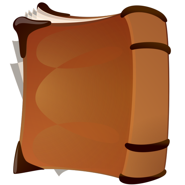 Old Book Front PNG Clip art