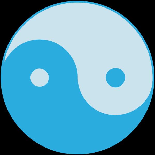 Blue Yin Yang PNG icon