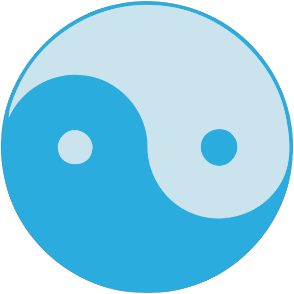 Blue Yin Yang PNG images