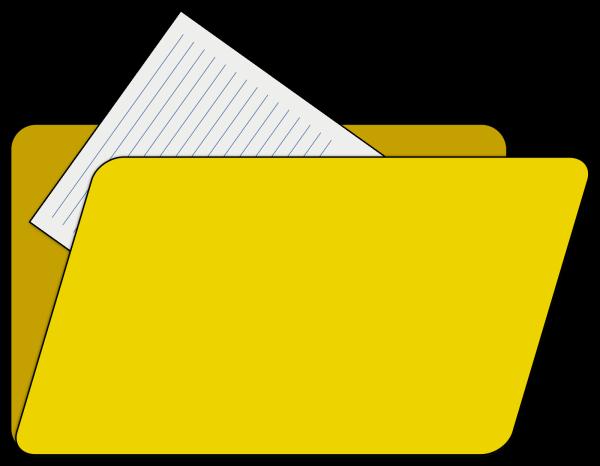 Brown Visiting Folder PNG Clip art