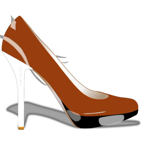 High Heel With Tail PNG Clip art