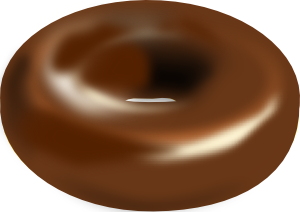 Chocolate Donut PNG Clip art