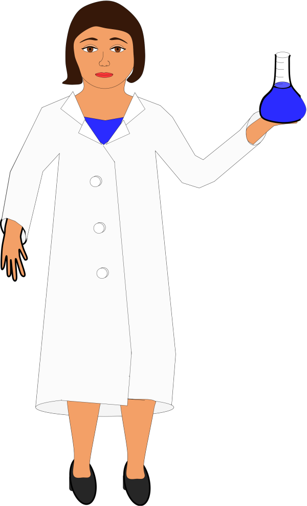 Lab Coat Worn By Scientist With Brown Beard PNG images