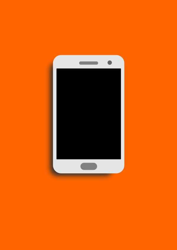 Phone Brown Simple PNG Clip art