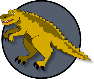 A Cartoon Dinosaur PNG images