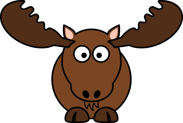 Brown Moose Cartoon PNG Clip art