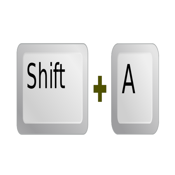 Keyboard Key Shift A PNG Clip art