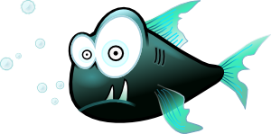 Cartoon Piranha Fish PNG images