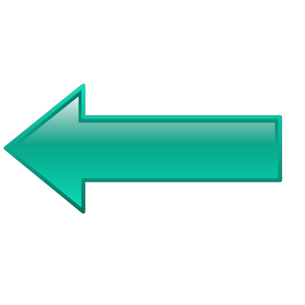 Arrow-left-seagreen PNG Clip art