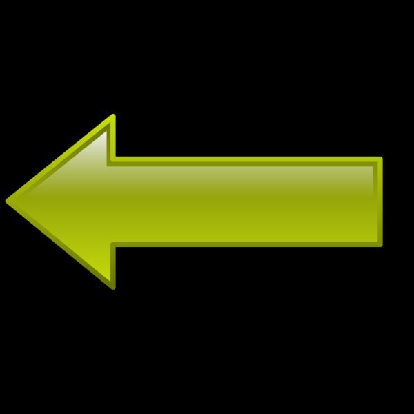 Arrow-left-yellow PNG Clip art
