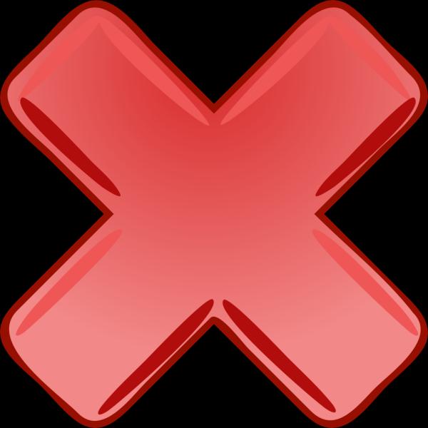 Red X Cross Wrong Not PNG Clip art