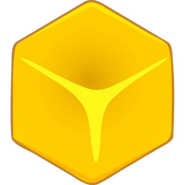 Yellow 3d Cube PNG clipart