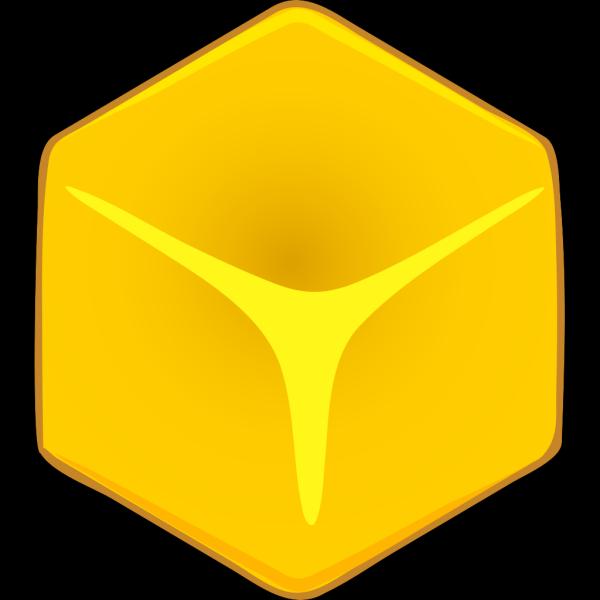 Yellow 3d Cube PNG Clip art