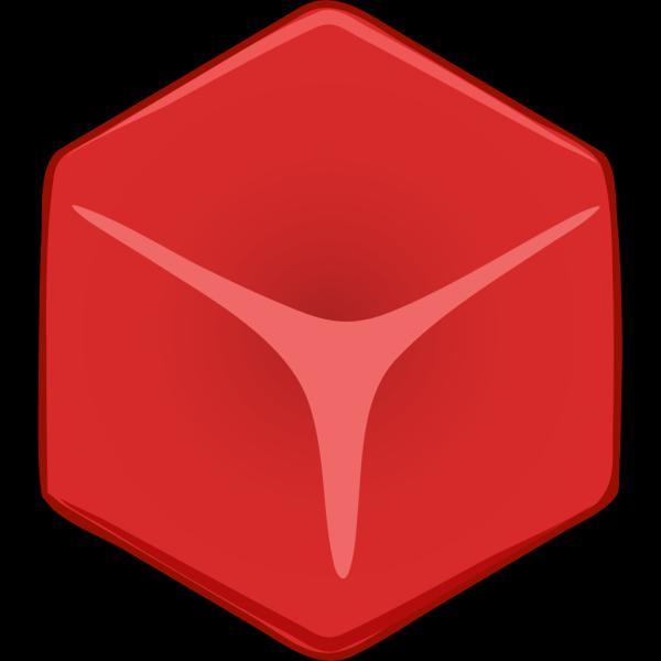 Red 3d Cube PNG Clip art