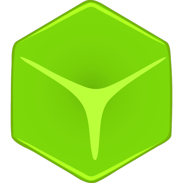 Green 3d Cube PNG Clip art