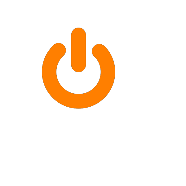 Orange Power Button PNG Clip art