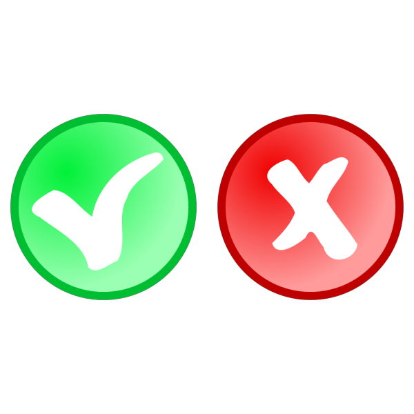 Red Green Ok Not Ok Icons PNG Clip art