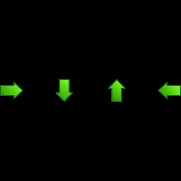 Green Arrows Set Up PNG Clip art