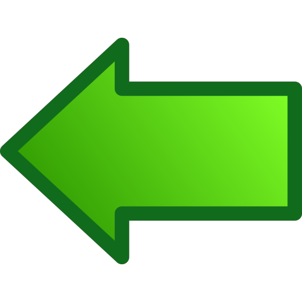 Green Arrows Set Left PNG Clip art